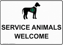 Service Animals Welcome